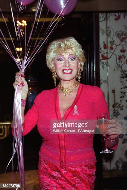 Entertainer Faith Brown at the Pink Ribbon Ball in aid of Breast Cancer Campaign at the Dorchester Hotel in London