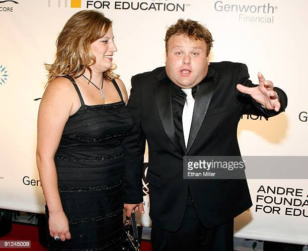 Entertainer Frank Caliendo and his wife Michele Caliendo arrive at the 14th annual Andre Agassi Charitable Foundation's Grand Slam for Children...
