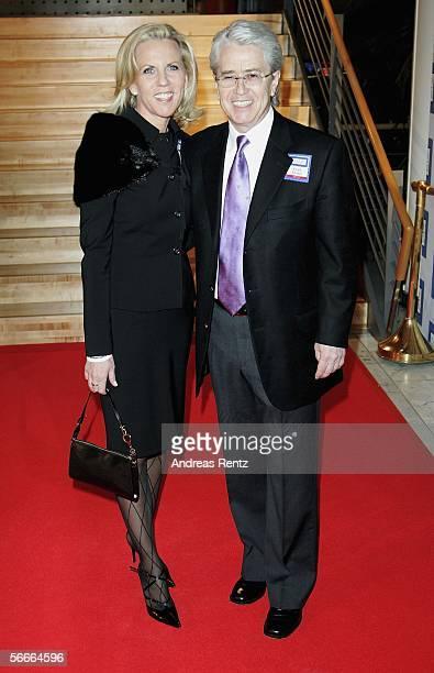 Entertainer Frank Elstner and his wife Britta Gessler attends the German Media Award on January 24, 2006 in Baden-Baden, Germany. The Media Award was...