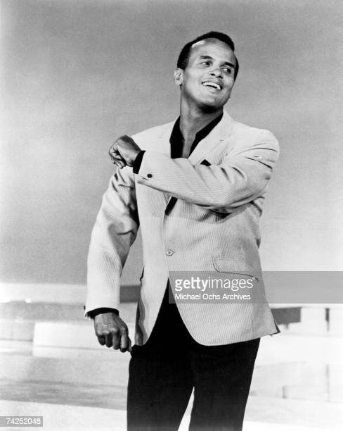 Entertainer Harry Belafonte performs onstage in circa 1956.
