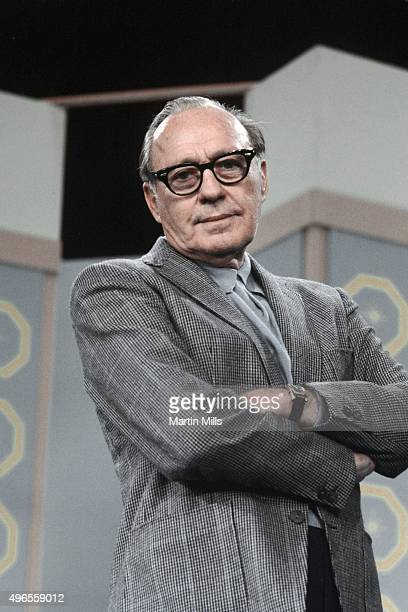 Entertainer Jack Benny poses for a portrait on the set circa 1965 in Los Angeles California