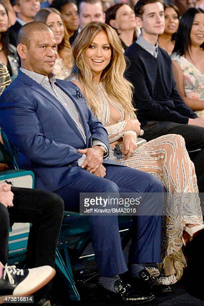 Entertainer Jennifer Lopez and music executive Benny Medina attend the 2015 Billboard Music Awards at MGM Grand Garden Arena on May 17 2015 in Las...