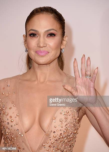 Entertainer Jennifer Lopez attends the 87th Annual Academy Awards at Hollywood Highland Center on February 22 2015 in Hollywood California