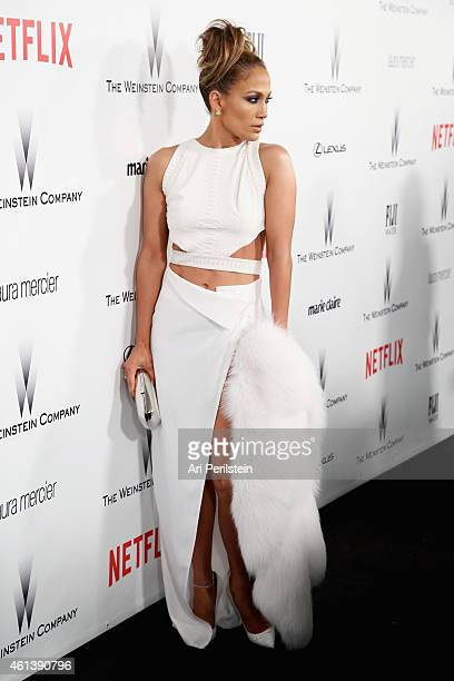 Entertainer Jennifer Lopez attends The Weinstein Company Netflix's 2015 Golden Globes After Party presented by FIJI Water Lexus Laura Mercier and...