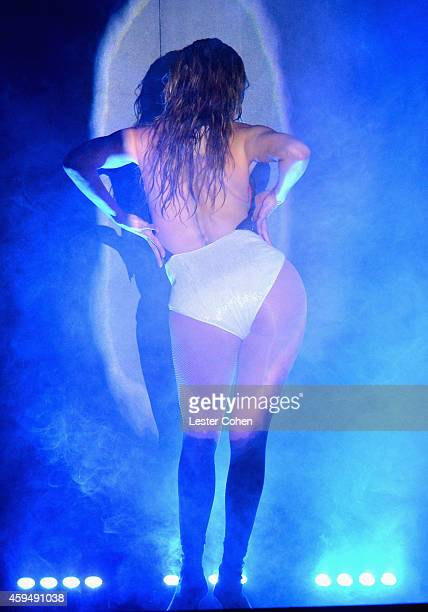 Entertainer Jennifer Lopez performs onstage at the 2014 American Music Awards at Nokia Theatre LA Live on November 23 2014 in Los Angeles California
