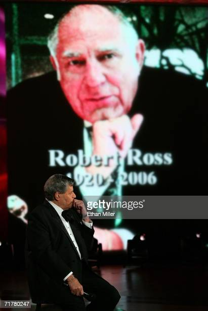 Entertainer Jerry Lewis pauses during a tribute to his friend Robert Ross during the 41st annual Labor Day Telethon to benefit the Muscular Dystrophy...