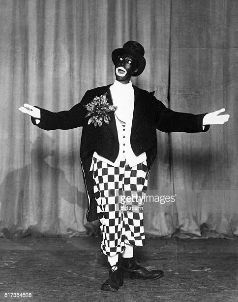 Entertainer Josephine Baker performs in blackface in imitation of minstrel performer Johnny Hudgins