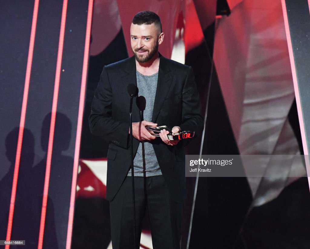 Entertainer Justin Timberlake accepts the award for Song of the Year for 'Can't Stop the Feeling' onstage at the 2017 iHeartRadio Music Awards which broadcast live on Turner's TBS, TNT, and truTV at The Forum on March 5, 2017 in Inglewood, California.
