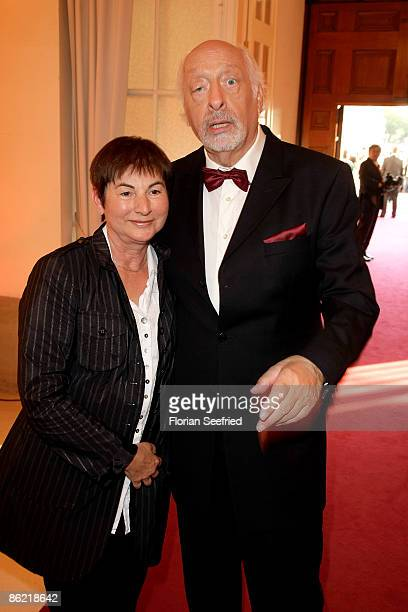 Entertainer Karl Dall and wife Barbara attend the '20th Romy Award' at the Hofburg on April 25 2009 in Vienna Austria