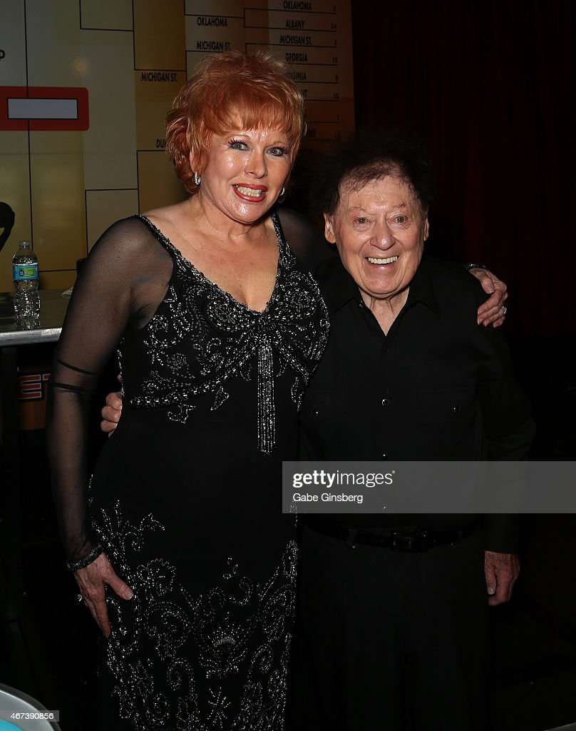 Entertainer Karon Kate Blackwell (L) and her husband, actor/comedian Marty Allen, attend a meet and greet after Allen's performance at the Downtown Grand Hotel & Casino on March 23, 2015 in Las Vegas, Nevada.
