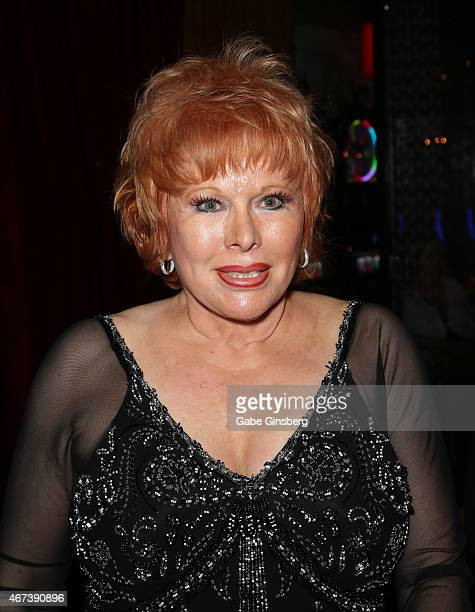 Entertainer Karon Kate Blackwell attends a meet and greet after Marty Allen's performance at the Downtown Grand Hotel Casino on March 23 2015 in Las...
