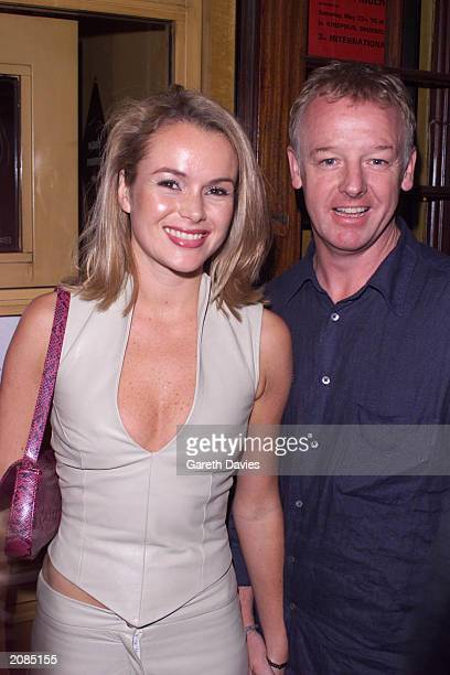Entertainer Les Dennis and wife, actress Amanda Holden , arrive at Bill Wyman's restaurant 'Sticky Fingers', for the restaurant's 11th birthday...