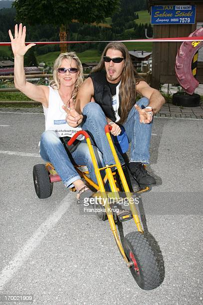 """Entertainer Lisa Fitz And Friend Peter Knirsch On The """"big border traffic"""" in Prien Am Chiemsee 230606."""