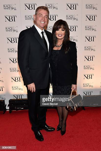 Entertainer Marie Osmond and her husband Steve Craig attend Nevada Ballet Theatre's 32nd annual Black White Ball honoring Olivia NewtonJohn at Wynn...