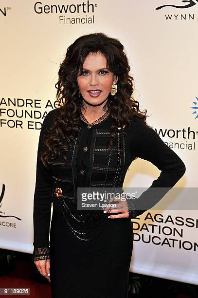 Entertainer Marie Osmond arrives at the 14th annual Andre Agassi Charitable Foundation's Grand Slam for Children benefit concert at the Wynn Las...