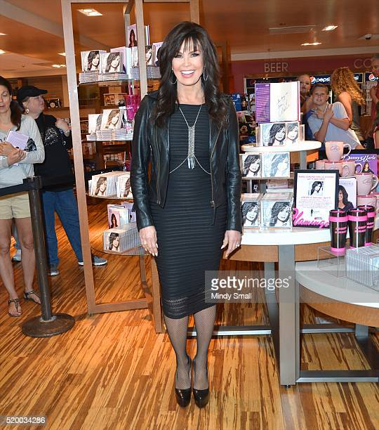 Entertainer Marie Osmond arrives to sign copies of her new album Music is Medicine at Flamingo Las Vegas on April 9 2016 in Las Vegas Nevada