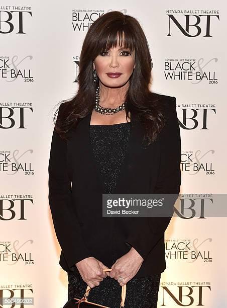 Entertainer Marie Osmond attends Nevada Ballet Theatre's 32nd annual Black White Ball honoring Olivia NewtonJohn at Wynn Las Vegas on January 23 2016...