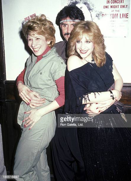 Entertainer Marilyn Michaels fashion designer Tony Chase and singer Julie Budd attend Julie Budd in Concert One Night Only on April 14 1984 at The...