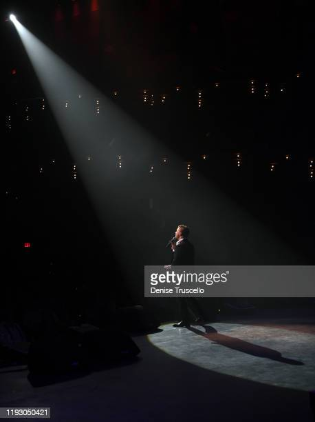 Entertainer Mark Shunock performs at the 6th anniversary of Mondays Dark With Mark Shunock at the Pearl Concert Theater at Palms Casino Resort on...