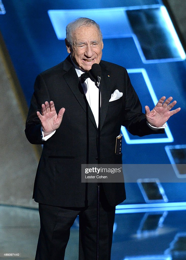 Entertainer Mel Brooks speaks onstage during the 67th Annual Primetime Emmy Awards at Microsoft Theater on September 20, 2015 in Los Angeles, California.