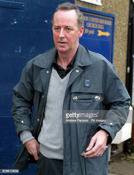 Entertainer Michael Barrymore leaving the United Reformed Church Village Hall in Roydon Essex where he has set up a branch of Alcoholics Anonymous *...