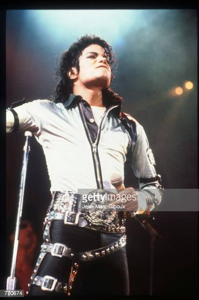 Entertainer Michael Jackson performs at a concert November 8 1988 in California Jackson who was the lead singer for the Jackson Five by age eight...