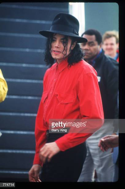 Entertainer Michael Jackson stands February 10 1992 in Los Angeles CA Jackson who was the lead singer for the Jackson Five by age eight reached the...