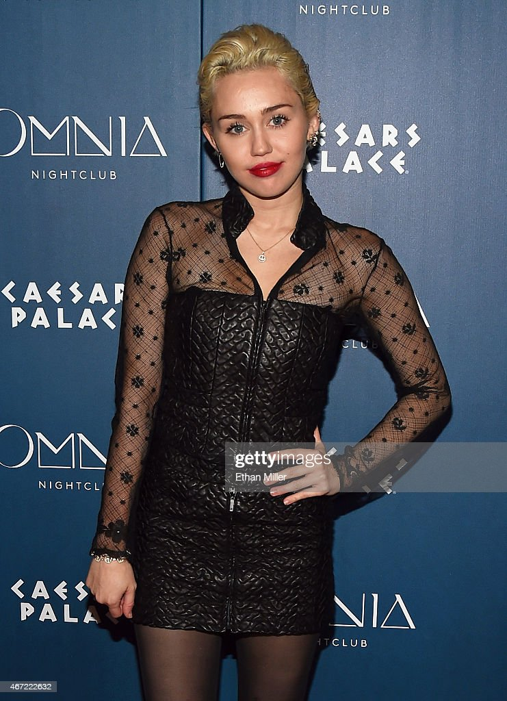 Miley Cyrus Appearance At Omnia Nightclub At Caesars Palace