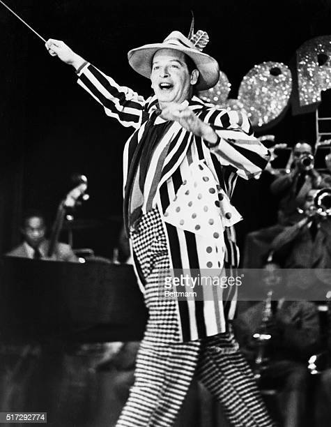 Entertainer Milton Berle wears a flamboyant zoot suit on his show Mr Television