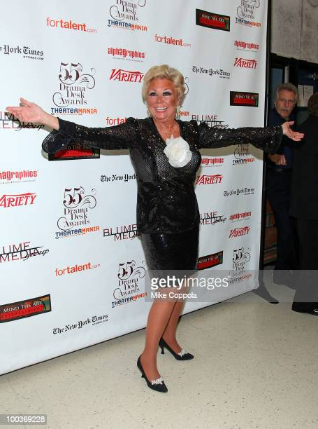 Entertainer Mitzi Gaynor attends the press room at the 55th Annual Drama Desk Awards at the FH LaGuardia Concert Hall at Lincoln Center on May 23...