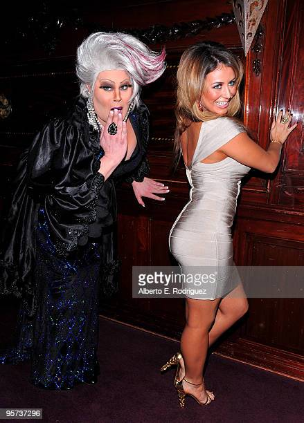 Entertainer Nina West and singer Aubrey O'Day attend the California Entertainer of the Year's Heel Hate One Stiletto at a Time event on January 12...