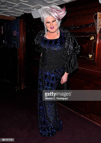 Entertainer Nina West attends the California Entertainer of the Year's Heel Hate One Stiletto at a Time event on January 12 2010 in West Hollywood...