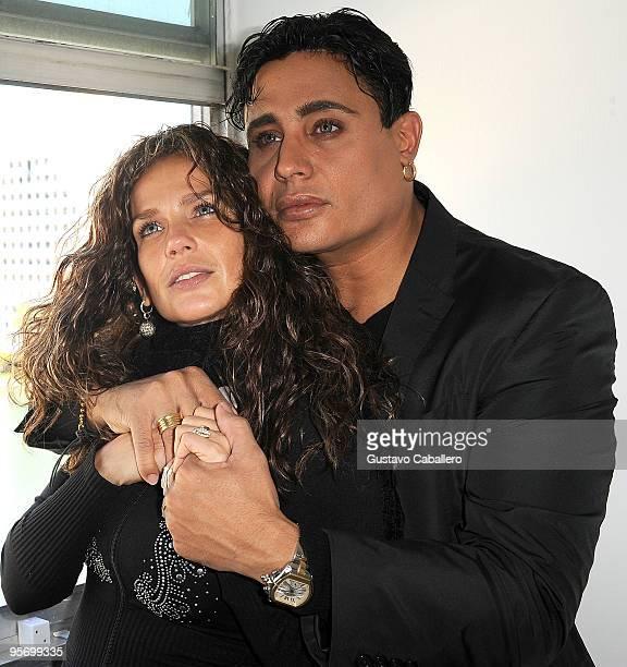 PRICING*** Entertainer Niurka Marcos and her boyfriend composer Eduardo Antonio pose in their Miami apartment on January 11 2010 in Miami Florida