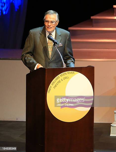 Entertainer Peter Marshall attends a memorial service for entertainer Andy Williams on October 21 2012 in Branson Missouri Williams died on September...