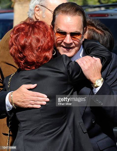 Entertainer Rich Little arrives at the funeral for actor Tony Curtis at Palm Mortuary Cemetary October 4 2010 in Henderson Nevada Curtis died on...