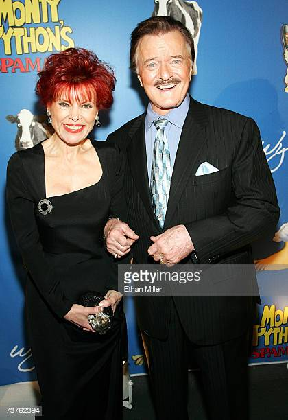 Entertainer Robert Goulet and his wife Vera Goulet arrive at the premiere of Monty Python's Spamalot at The Grail Theater at the Wynn Las Vegas on...