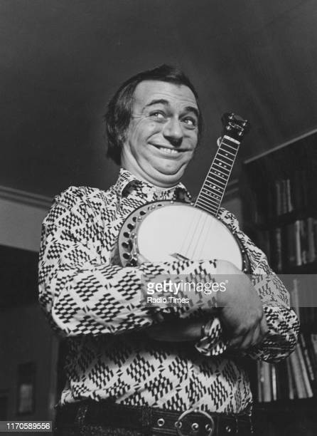 Entertainer Roy Hudd with his banjo interviewed for the BBC television show 'Celebration' March 1975