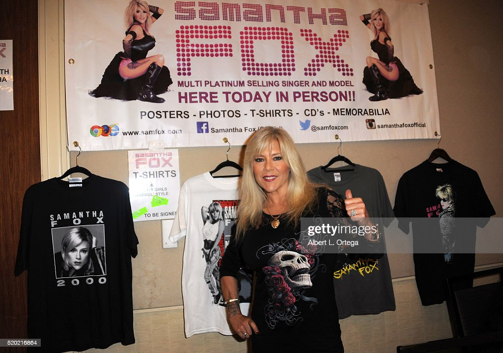Entertainer Samanth Fox at the The Hollywood Show held at Westin LAX Hotel on April 9, 2016 in Los Angeles, California.
