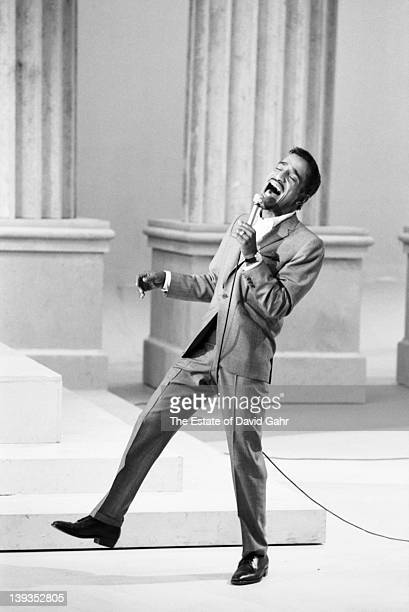 Entertainer Sammy Davis Jr performs on 'The NAACP Freedom Spectacular' a closedcircuit TV broadcast on May 14 1964 in New York City New York