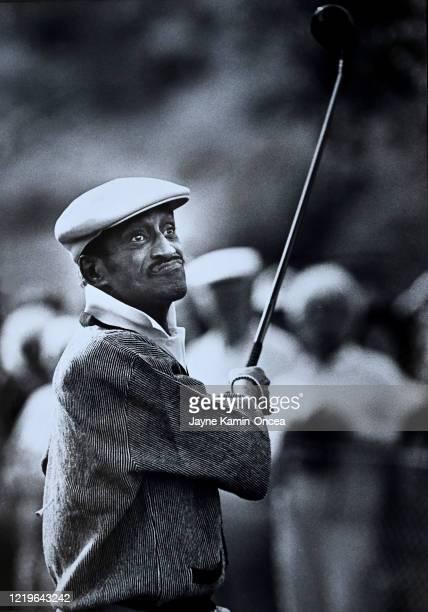 Entertainer Sammy Davis, Jr. Plays in the Pro-Am at the Bob Hope Desert Classic golf tournament, Palm Springs, California.
