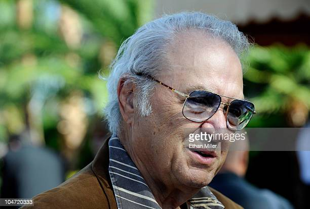 Entertainer Steve Rossi arrives at the funeral for actor Tony Curtis at Palm Mortuary Cemetary October 4 2010 in Henderson Nevada Curtis died on...
