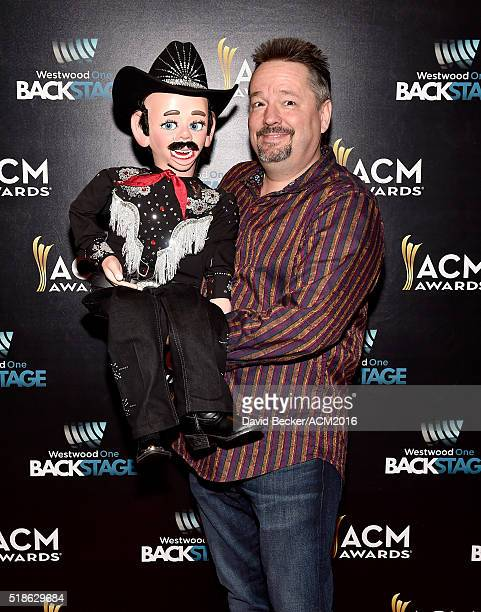 Entertainer Terry Fator attends Westwood One Presents #WWOBackstage @ 51st ACMs at MGM Grand Garden Arena on April 1 2016 in Las Vegas Nevada