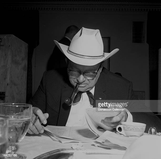 Entertainer Tex Ritter attends a luncheon and recording session for the Country Music Association for the promotional album The Sounds Of Country...