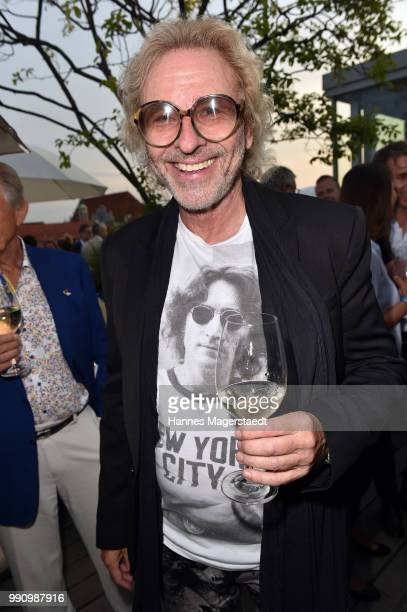 Entertainer Thomas Gottschalk attends the summer party at Hotel Bayerischer Hof on July 3 2018 in Munich Germany