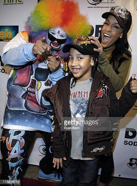 Entertainer Tommy the Clown Doug Christie Jr and Chantel 'Chani' Christie arrive at Music Smash 2008 at the Celebrity Centre in Hollywood California...