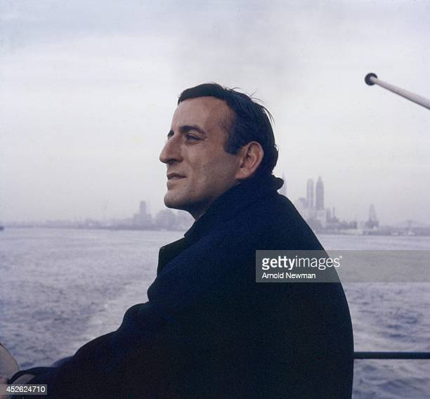 Entertainer Tony Bennett poses for a portrait on a boat in 1957 in New York New York