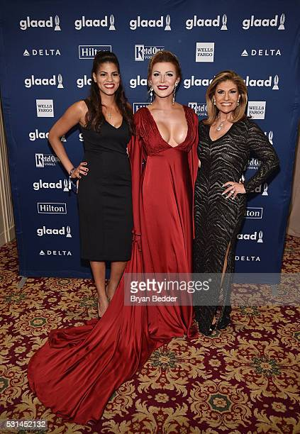 Entertainer Vinna Rouge and TV Personality Teresa Rodriguez attend the 27th Annual GLAAD Media Awards in New York on May 14 2016 in New York City