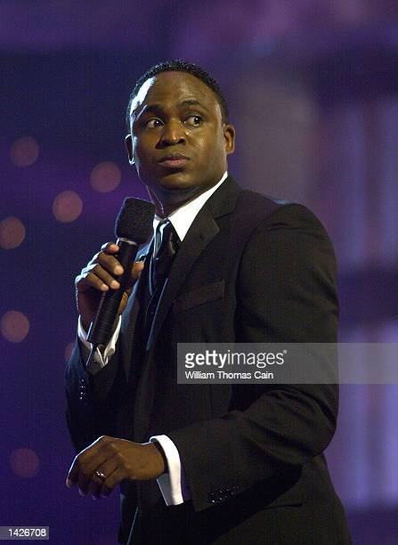 Entertainer Wayne Brady hostes the 2003 Miss America Pageant September 21 2002 in Atlantic City New Jersey Harold would go on to be crowned Miss...
