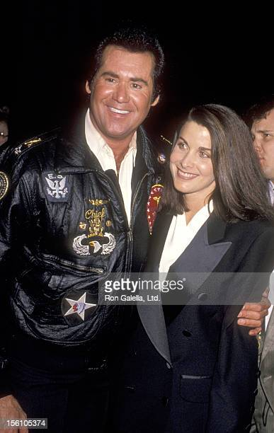 Entertainer Wayne Newton and Actress Marla Heasley attend the 1990 NATO/ShoWest Convention on February 8, 1990 at Bally's Hotel and Casino in Las...
