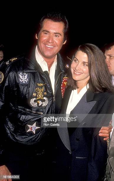 Entertainer Wayne Newton and Actress Marla Heasley attend the 1990 NATO/ShoWest Convention on February 8 1990 at Bally's Hotel and Casino in Las...